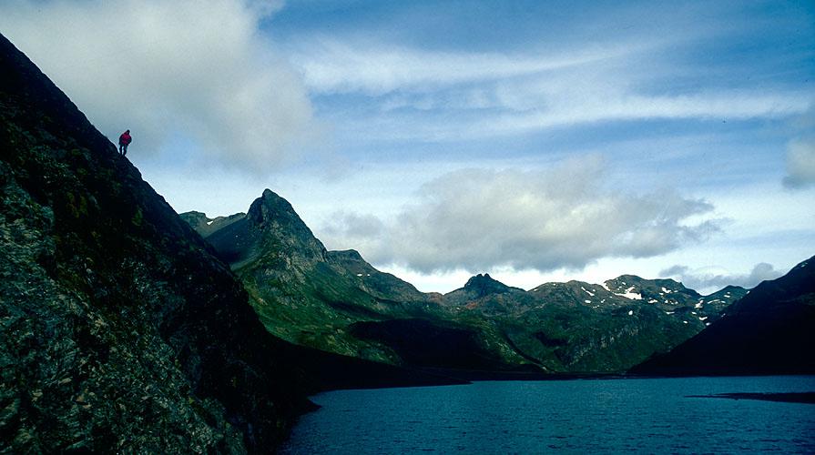 A view north along the shore towards the Sierra Valdevieso and Cerro Falso TonelliNikon FM2, 24mm, Fuji Velvia