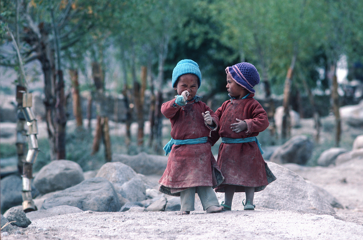 In the Indus Valley near Thikse, LehCanon A1, 135mm, Kodachrome 64