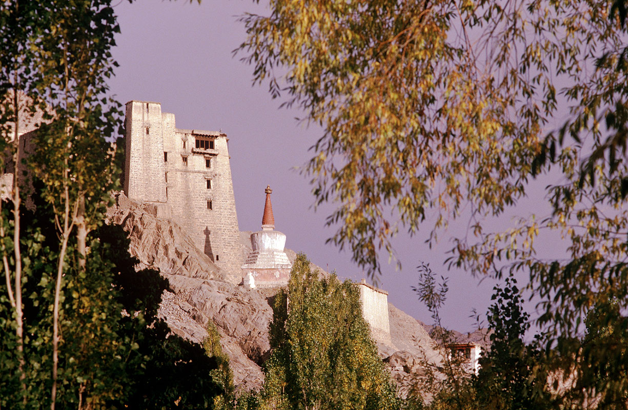 The Potala-like residence of the Ladakhi royal familyCanon A1, 50mm, Kodachrome 64