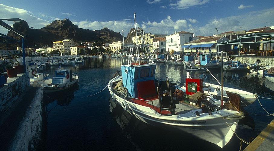The old Turkish harbour and fortNikon F5, 17-35mm, Fuji Velvia 100