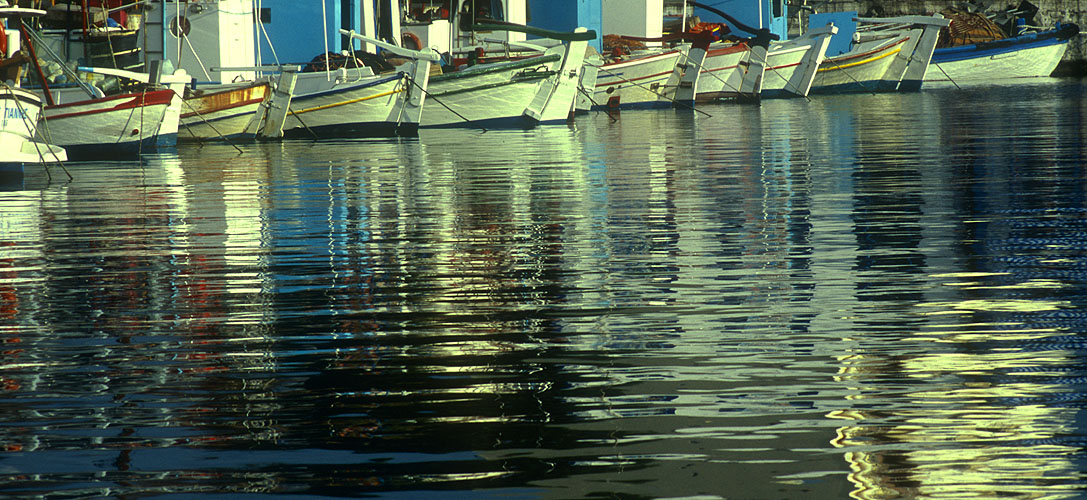 Reflections in the old Turkish harbourNikon F5, 17-35mm, Fuji Velvia 100
