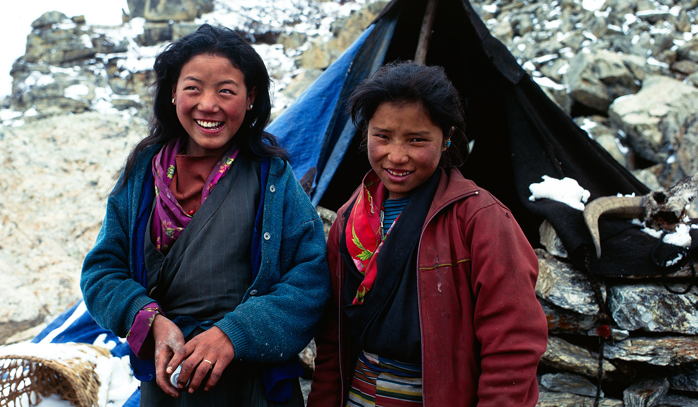 During the summer months the people of Ghunsa keep large herds of yaks at these pastures beside the glacier, and stay up there for months on end looking after themProject VeronicaMedium format images re-scanned in a professional glass film- holder with my Nikon Coolscan 9000 and Silverfast 8 software. These images display larger on the site - enjoy!Bronica ETRSi, 75mm, Fuji RDP2