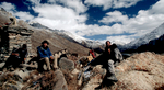 Michael Wood on the trail from Limi into Tibet