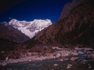 Limithang is the final camp before Laya village on the trek from Paro / Chomolhari BCBronica ETRSi, 50mm, Fuji Velvia