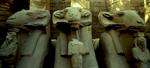 The row of ram's headed sphynxes lining the entrance to the Precinct of Amon-ReNikon F5, 17-35mm, Fuji Velvia 100