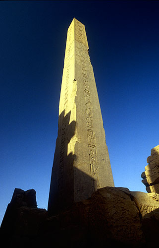The obelisk of Hatshepsut (30m high)Nikon f5, 17-35mm, Fuji Velvia 100