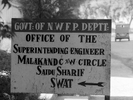 Sign in Saidu Sharif, Swat, NWFP, Pakistan