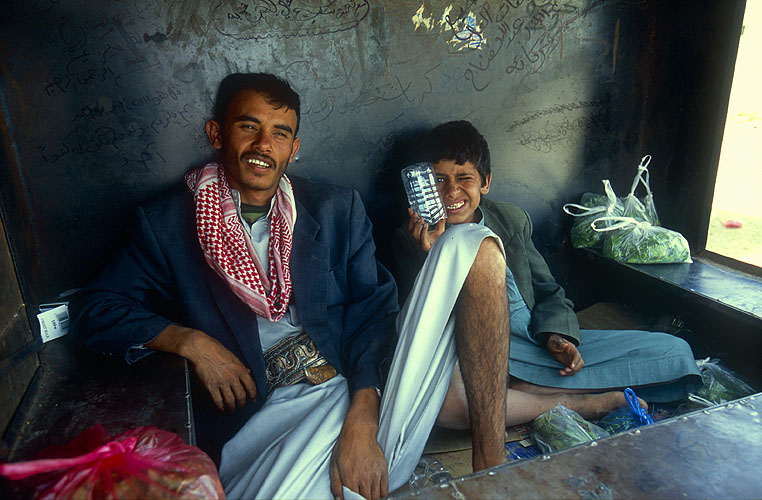 On the journey from Marib back to Sana'a, our drivers stopped to replenish their supplies at this roadside stallNikon F5, 17-35mm, Fuji Velvia 100