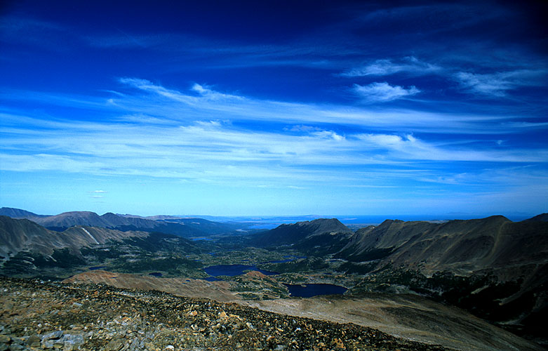The southern part of Isla Navarino, from the summit of an un-named peak in the Montes CodringtonNikon FM2, 24mm, Fuji Velvia