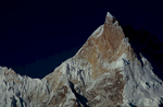 Summit telephoto at sunrise, from Goro on the Baltoro glacierNikon F5, 180mm