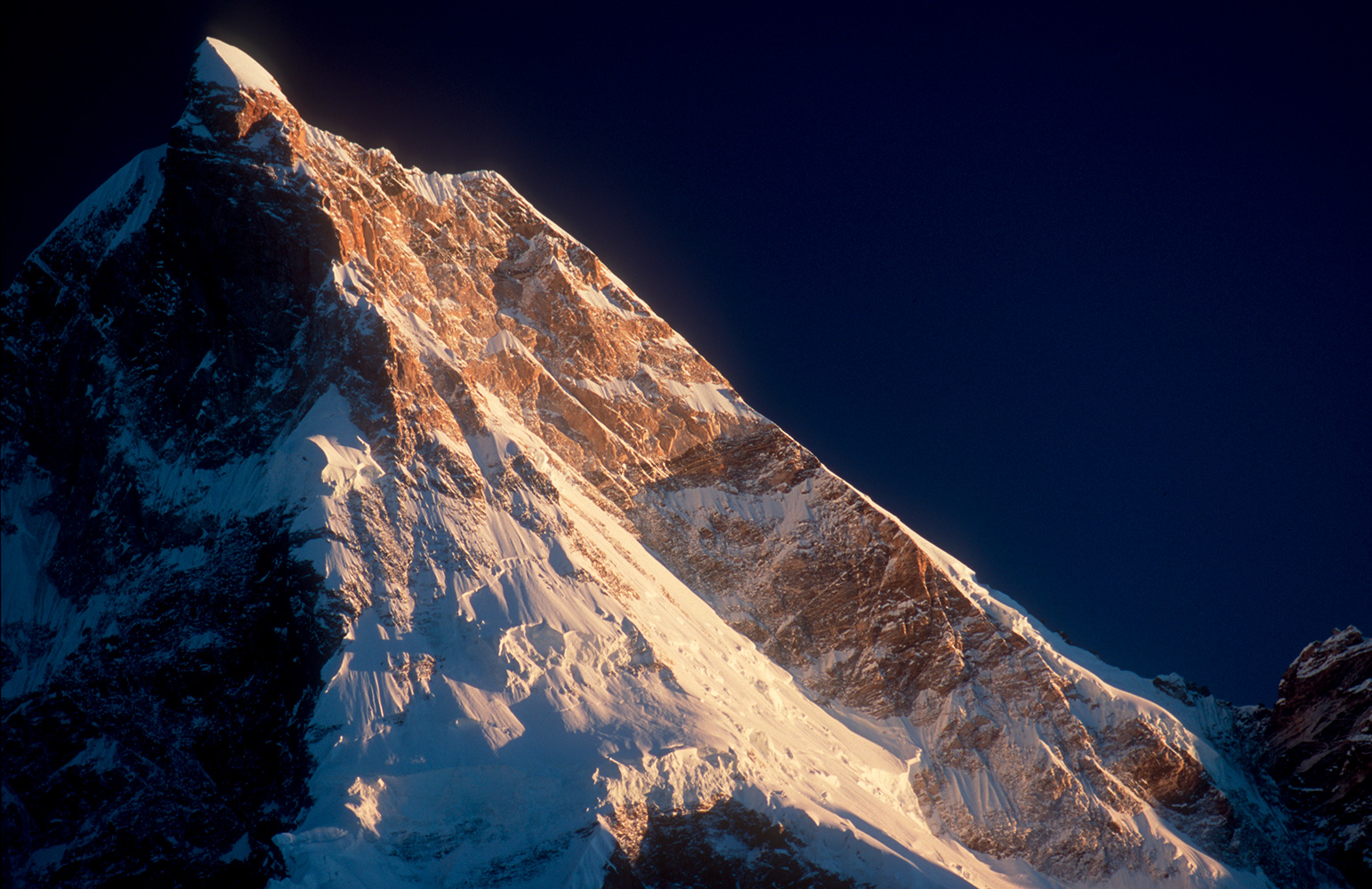 The summit from Goro on the Baltoro glacier