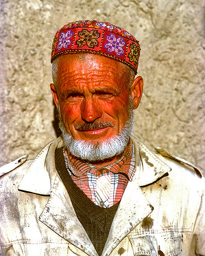 Our host during our stay in Barchedev village in the Pamir mountains of Tajikistan in August 1992Bronica ETRS, 75mm, Fuji RDP