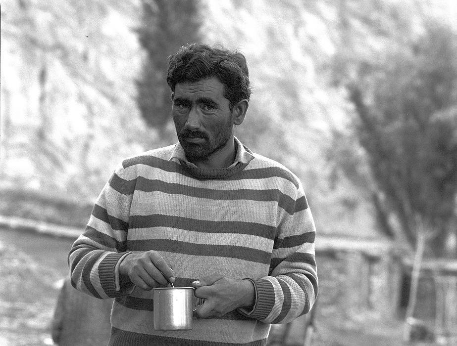 Portrait of Mohammed Hussein of Gwardu - singer and super sirdar!Bronica ETRSi, 70mm, Kodak T-Max 400 @ 800ASA
