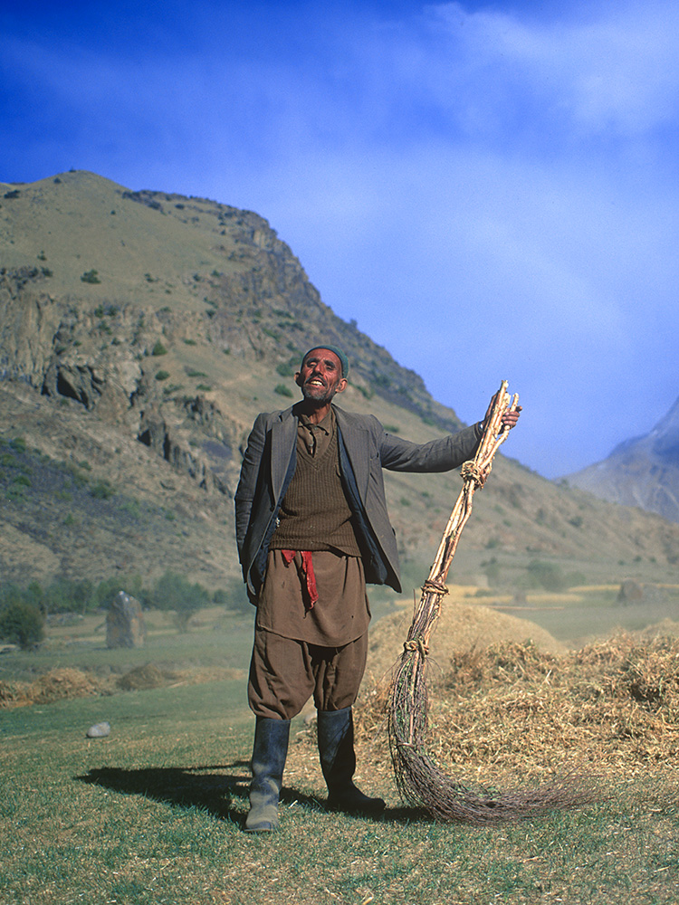 Momeen Khan is the lambarder or head man of this remote village in upper Yarkhun, Chitral.Bronica ETRSi, Fuji Velvia