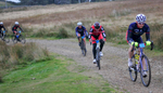 The Monster Miles is a 62 mile (55% off road) Cyclo-Cross Sportive in Cumbria organised by Cycling Weekly and run by Rather Be CyclingHere the leading riders are setting off over Caldbeck Commons from Calebreck on the Fellside Sector.