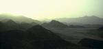 A view to the mountainous interior of the Hadramawt from the Arabian Sea coast between Bir Ali and al-MukallaNikon F5, 17-35mm, Fuji Velvia 100