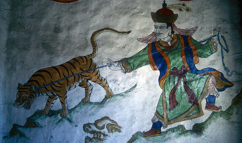Temple mural detail.Nikon FM2, 24mm, Kodachrome 64