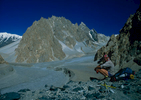 Graham {quote}Mungo{quote} Hulm surveys this wild valley north of Shimshal on our way to Chapchingal