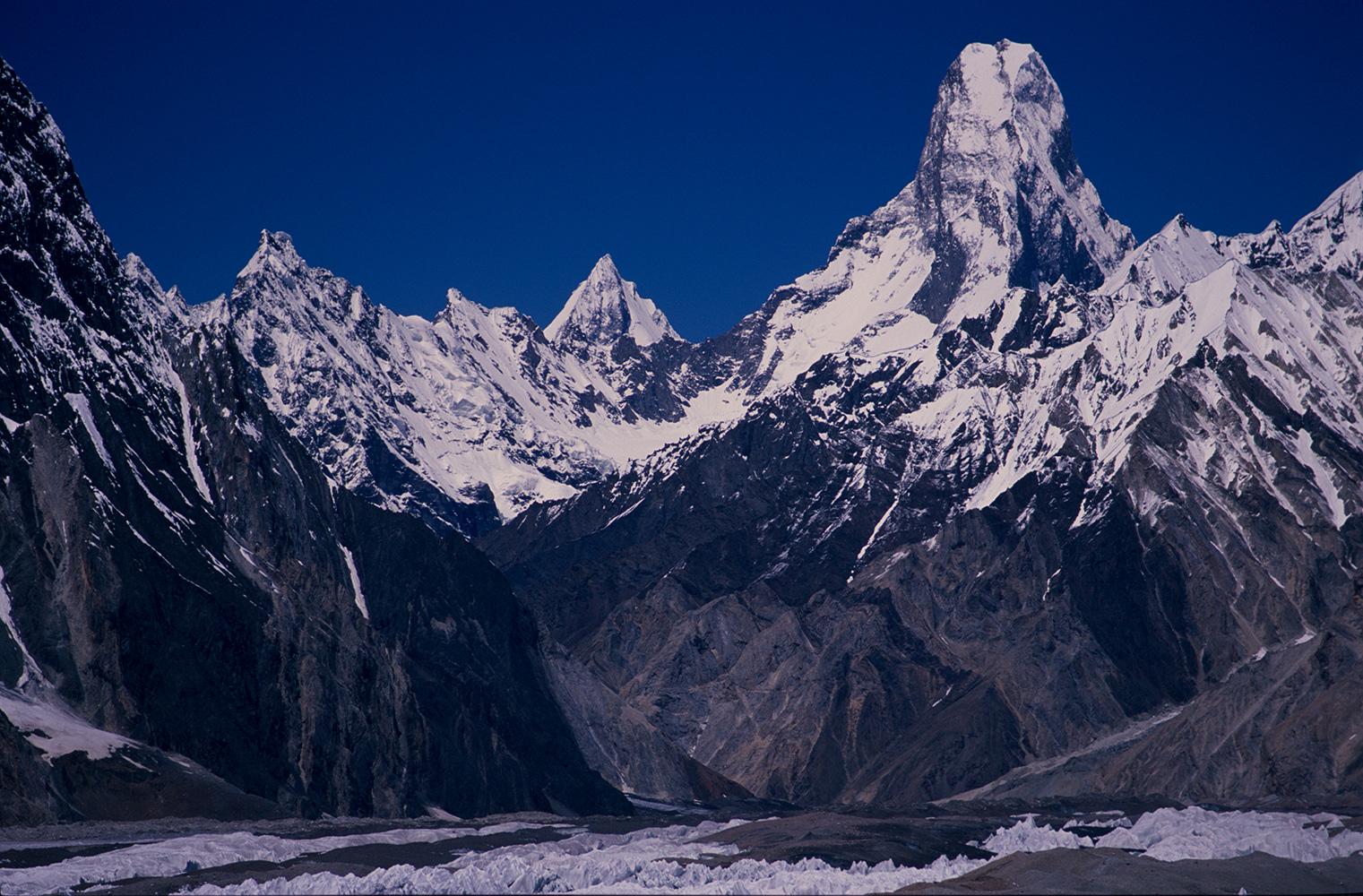 From the Baltoro glacier above ConcordiaNikon F5, 180mm