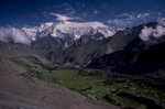 These are the southernmost peaks of the Batura Muztagh, towering over Karimabad in Hunza.