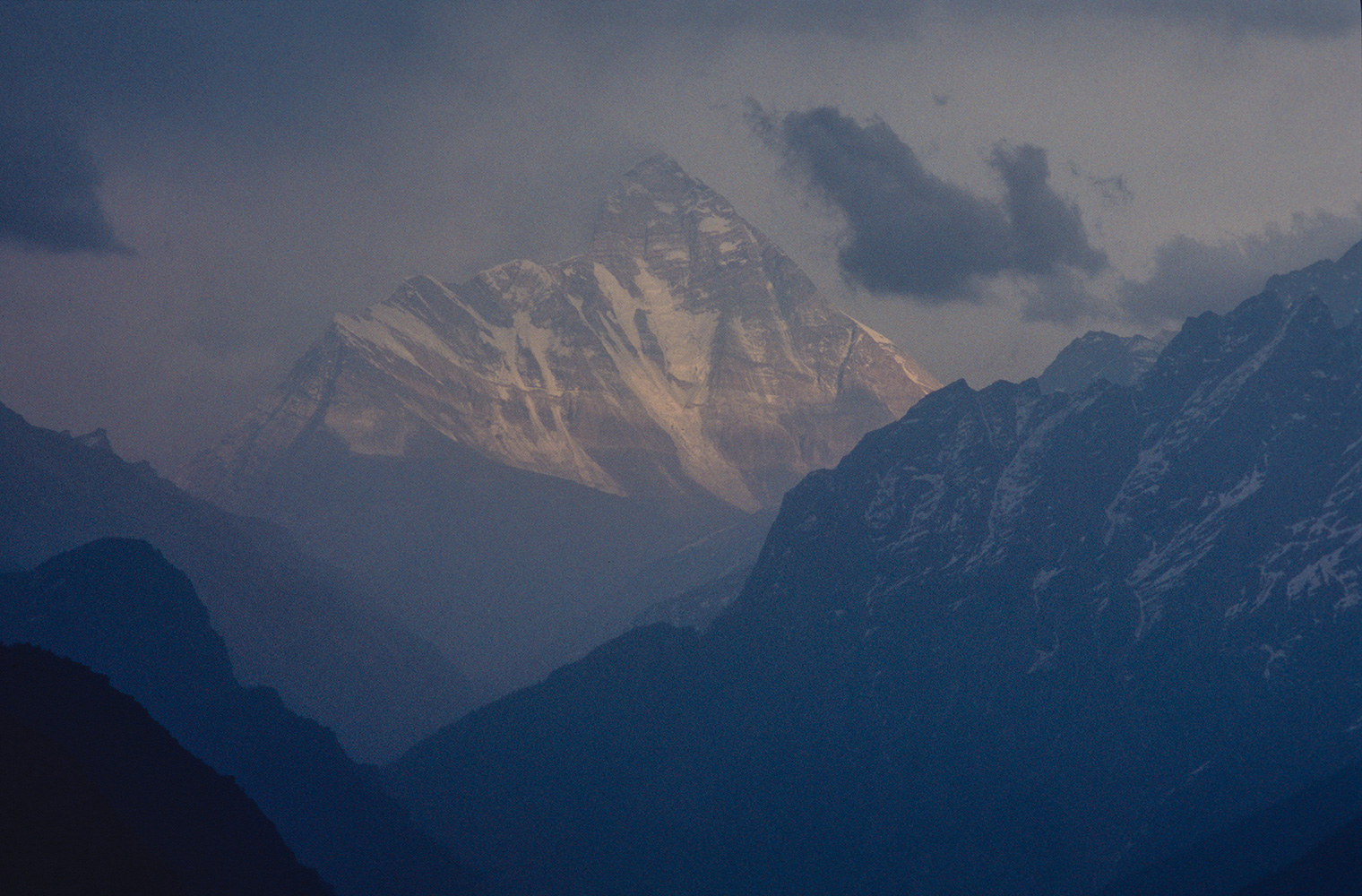 Telephoto from the road to Mana above Badrinath