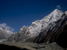 Seen from Saitcho, towering above the lower reaches of the Charaksa or Charakusa glacier above Hushe.