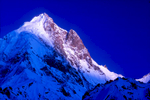 This peak was first climbed illegally by te Shuffling Dossers in 1987Seen here from Saitcho, at the snout of the Gondokoro glacierCanon A1, 135mm