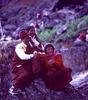 Nyinba Buddhist nuns at the Jeth Purni festival, Raling Gompah, HumlaBronica ETRS, 75mm, Fuji Velvia