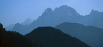 Early morning silhouette from the eastertn side of the Sudamkhan Khal passNikon F90X, 180mm, Fuji Velvia