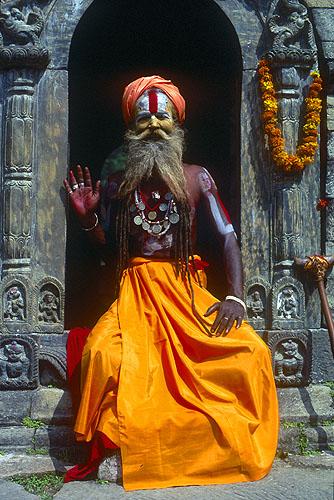 Pashupatinath, KathmanduNikon FM2, 50mm, Fuji Velvia