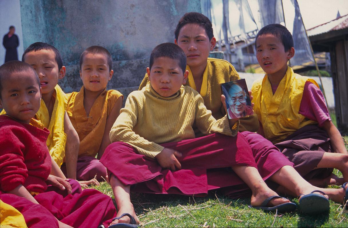 Novice monksNikon FM2, 24mm, Fuji Velvia