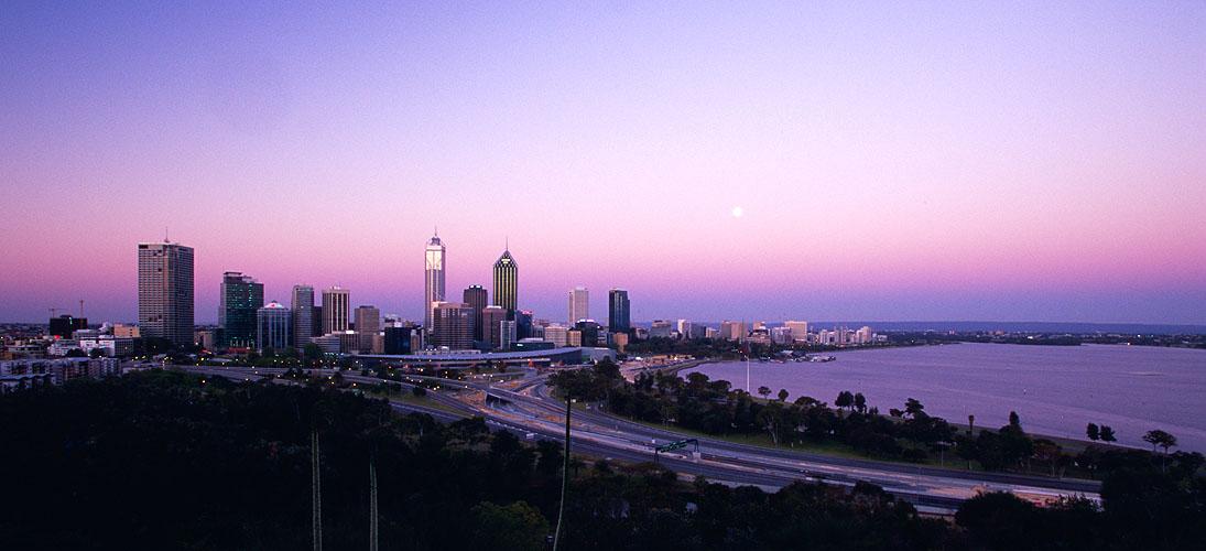 The city at dusk, from King's ParkNikon F5, 17-35mm, Fuji Velvia
