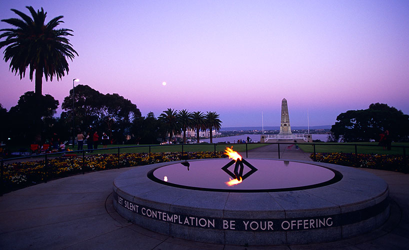 The State War Memorial in Kings ParkNikon F5, 17-35mm, Fuji Velvia