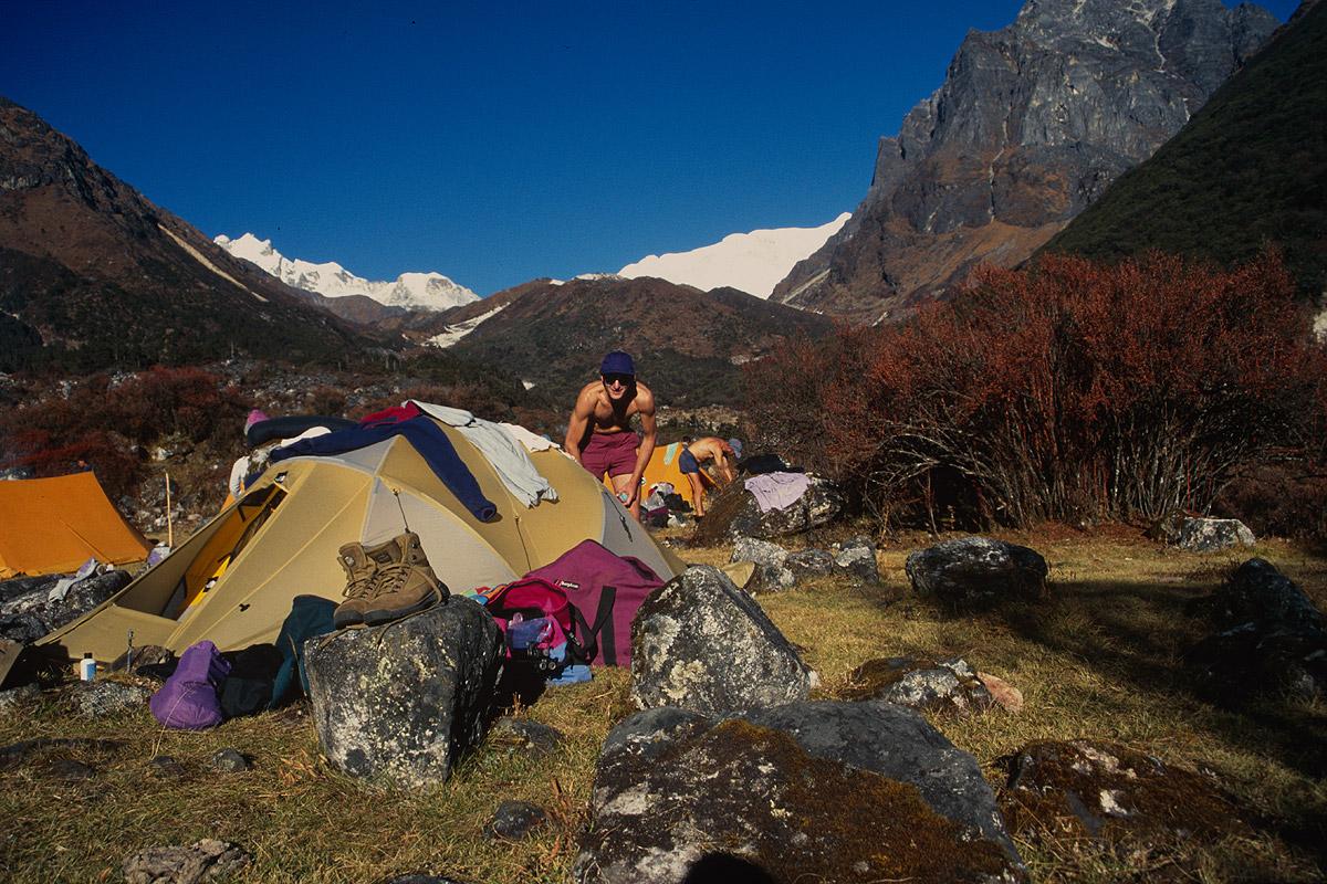 In the valley of the Simbua Khola ,below YalungNikon FM2, 28mm, Fuji Velvia