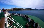 The ferry from Wellington approaching Picton, South Island, New ZealandNikon F5, 17-35mm, Fuji Velvia