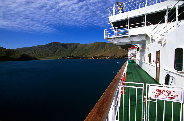 Approaching Picton up the Queen Charlotte SoundSouth Island, New ZealandNikon F5, 17-35mm, Fuji Velvia