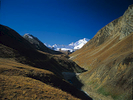 Looking back to the Kagmara range from the Pungmo Khola after crossing the Kagmara LaBronica ETRSi, 150mm, Fuji RDP