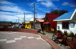 The centre of the most southerly town on earth.Nikon FM2, 24mm, Fuji Velvia