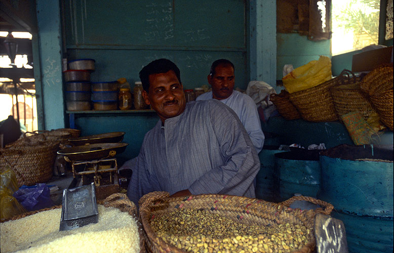 A merchant in this sleepy town on the Red Sea coastNikon F5, 17-35mm, Fuji Velvia 100