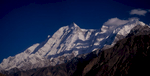 A stitch of two 150mm telephotos taken with the Bronica from the KKH just below Gilgit.