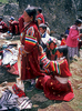 Women from Limithang village don their finest traditional dress for the afternoon puja (ceremony) at the Jeth Purna festival.Canon EOS500, 80mm, Fuji Velvia