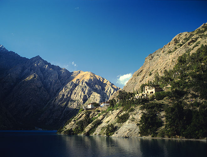 A Bon-Po monastery on the shores of Phoksundo TalBronica ETRSi, 75mm, Fuji RDP