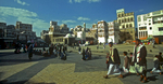 Entering the old city from Bab al YemenNikon F5, 17-35mm, Fuji Velvia 100