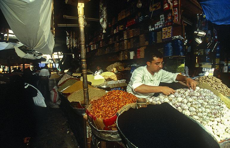 A spice sellerNikon F5, 17-35mm, Fuji Velvia 100