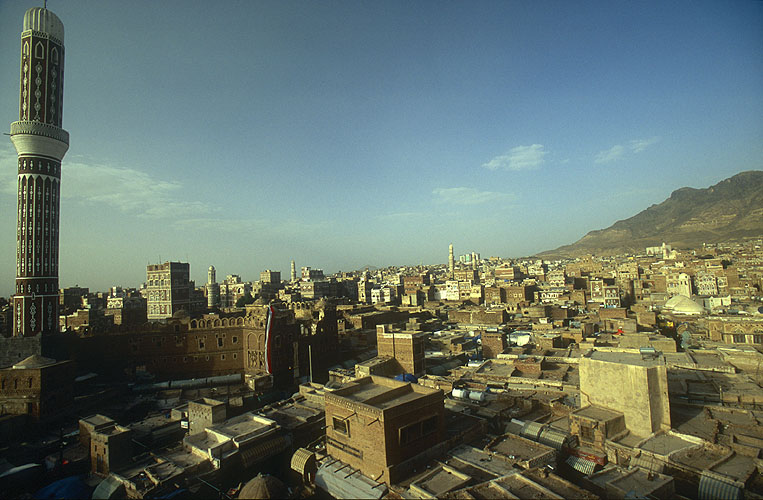 The roof-tops and minarets of the old cityNikon F5, 17-35mm, Fuji Velvia 100