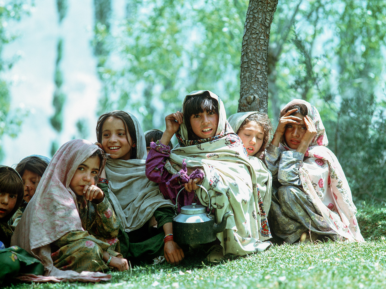 Girls from this village beneath Tirich Mir in ChitralNWFP, PakistanBronica ETRSi, 75mm, Fuji Velvia