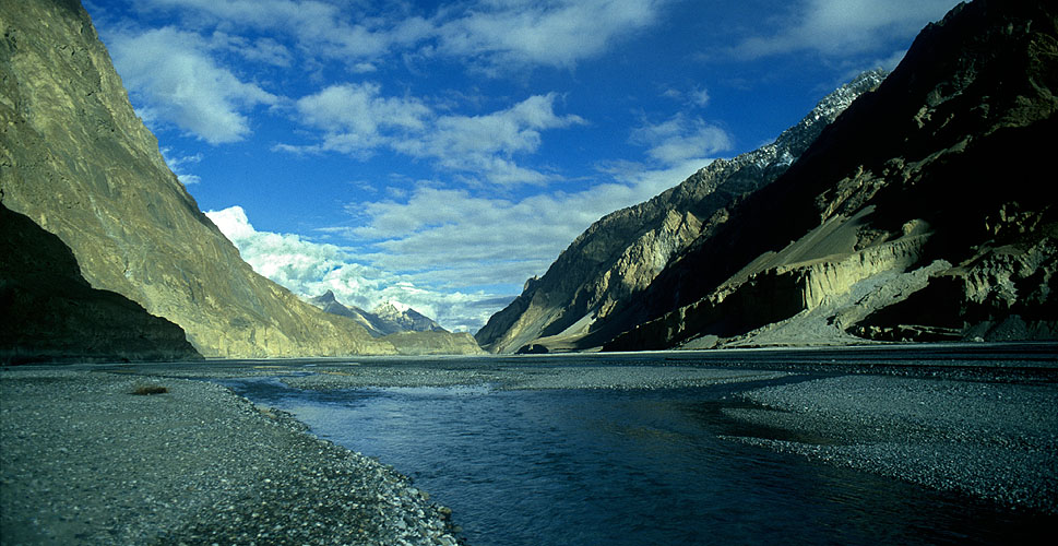 Approaching the confluence of the Sarpo Laggo and Shaksgam rivers en route to the north side of K2Nikon FM2, 24mm, Fuji Velvia