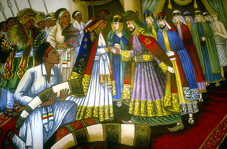 Detail of a painting at Axum, EthiopiaNikon F5, 17-35mm, Fuji Velvia 100