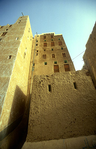 Typical multi-storied mud-brick houses in the old walled townNikon F5, 17-35mm, Fuji Velvia