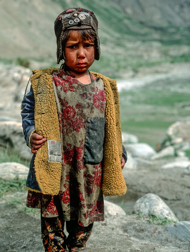 A younf Shimshali girl at Shuwert, the summer grazing settlement on the Shimshal Pass at 4600m